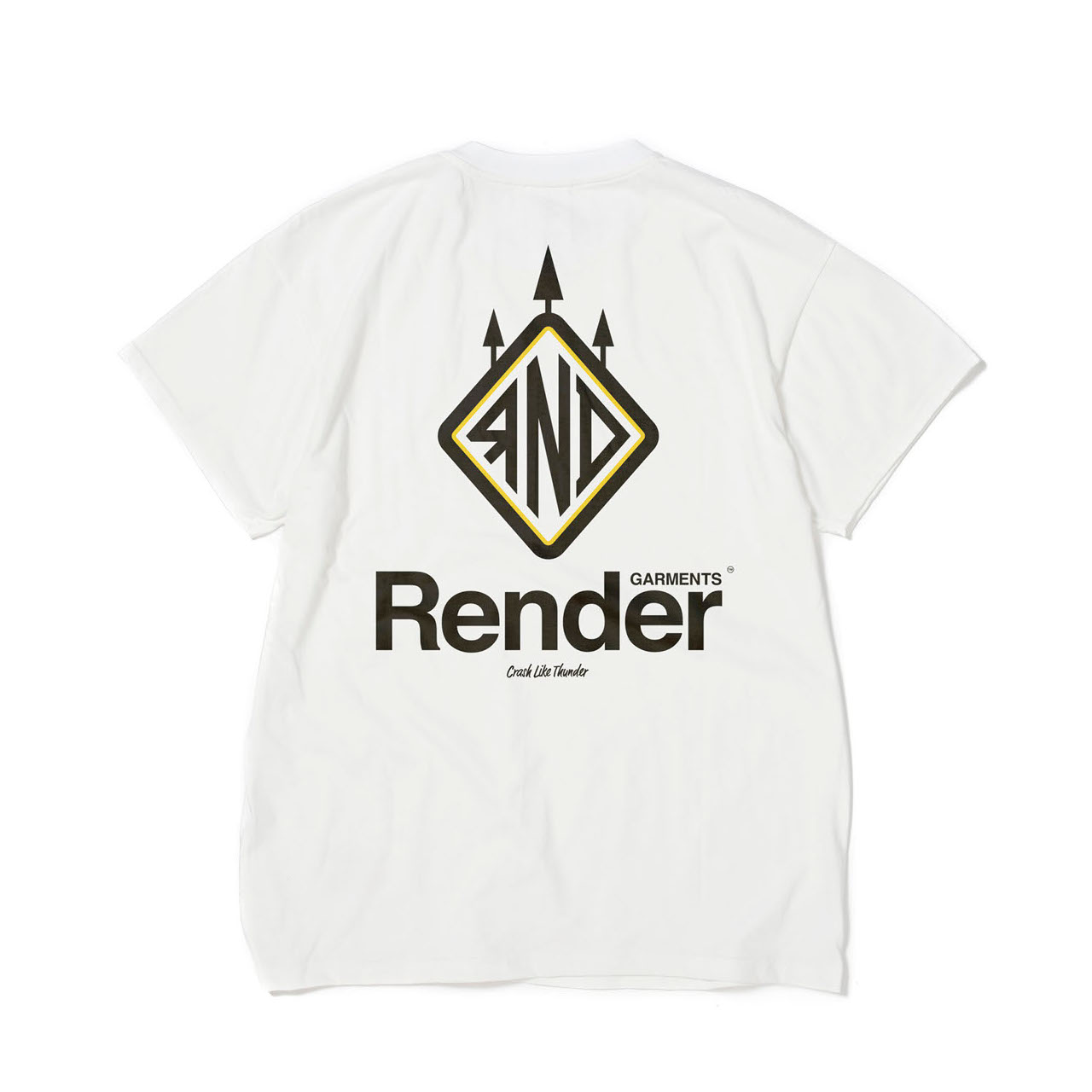 RENDER / Main Logo S/S Tee (WH)