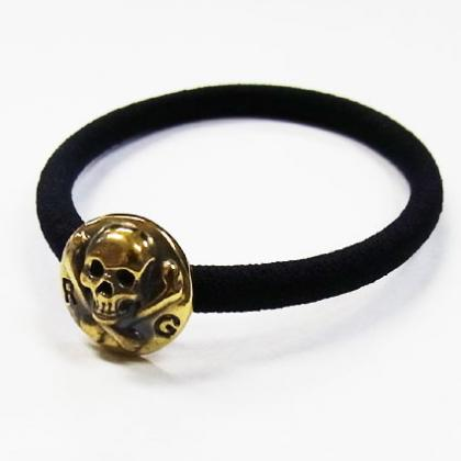 RG / SMALL SKULL HAIR GUM (GOLD)