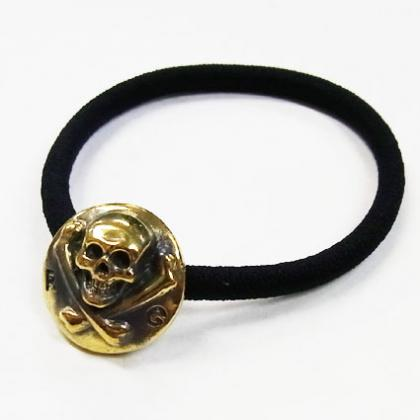 RG / LARGE SKULL HAIR GUM (GOLD)