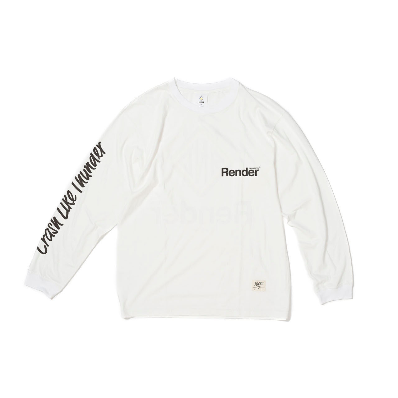 RENDER / Main Logo L/S Tee (WH)