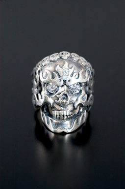 MAGICAL DESIGN / FLAMING MONK SKULL RING