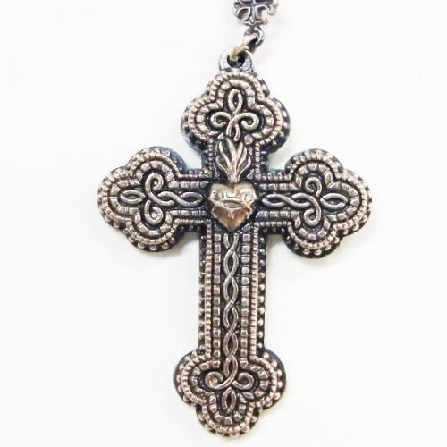 RUDE GALLERY / CROSS HEAD NECKLACE (SIL)