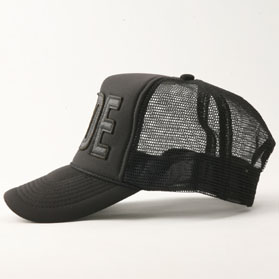RG / LEATHER RUDE MESH CAP (BK/BK)