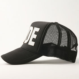 RG / LEATHER RUDE MESH CAP (BK/WH)