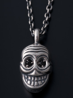 MAGICAL DESIGN / REVERSIBLE TIBETAN SKULL PENDANT (BK)