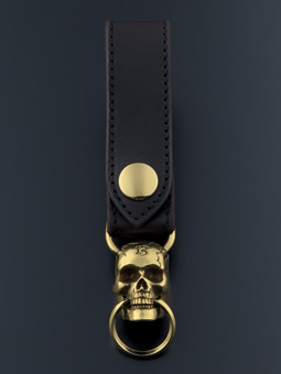 MAGICAL DESIGN / MOVABLEJAW SKULL KEY RING (GOLD)