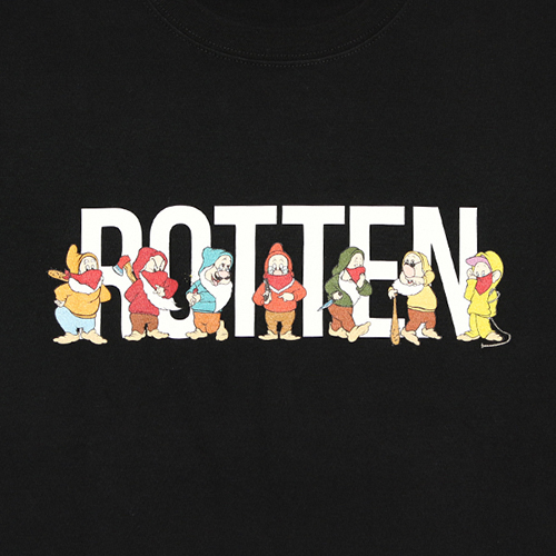 SUPRATE / ROTTENCITY TEE (BK)