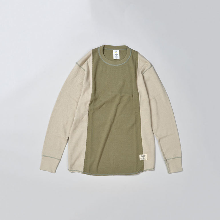 RENDER / Two Tone Thurmal Shirt (KHAKI/BEI)