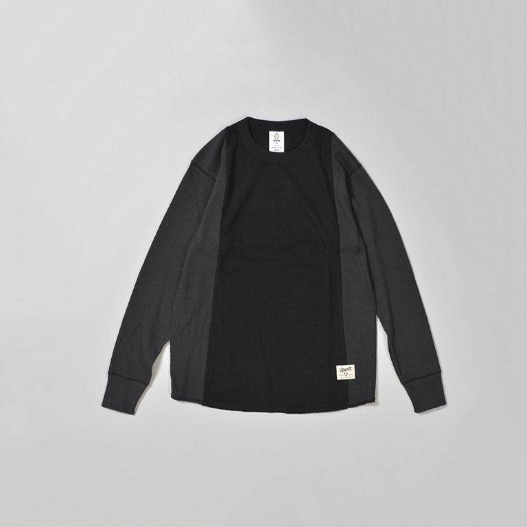 RENDER / Two Tone Thurmal Shirt (BK/CHARCOAL)