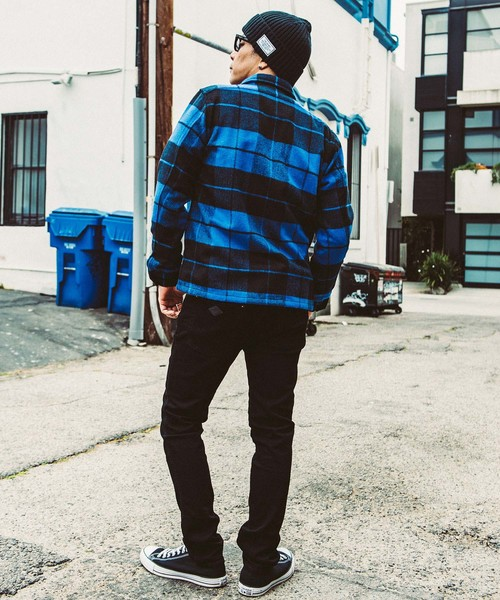 CRIMIE / WOOL CHECK SHIRT (BLUE)
