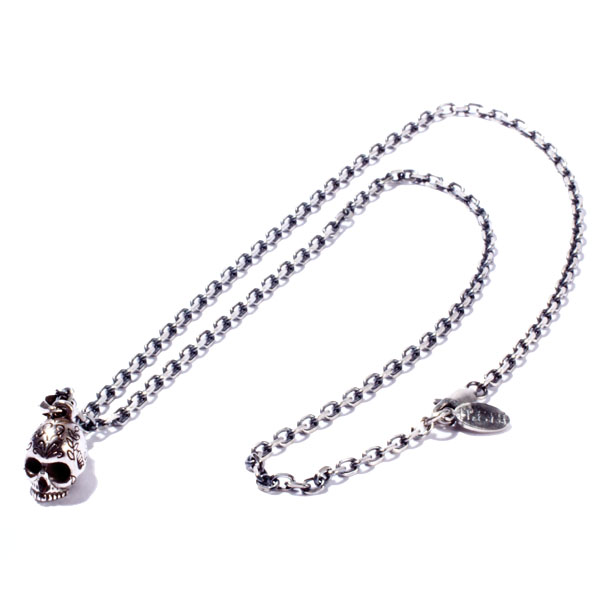 RUDE GALLERY / Hippy Water Skull Necklace (SIL)