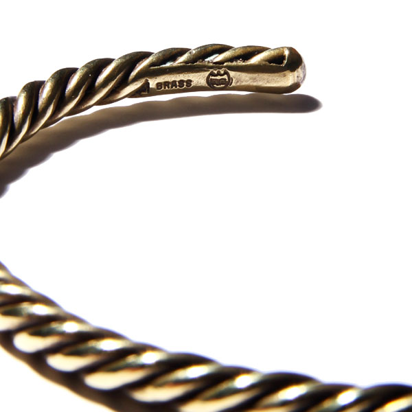 RUDEGALLERY / TWIST BANGLE (GOLD)