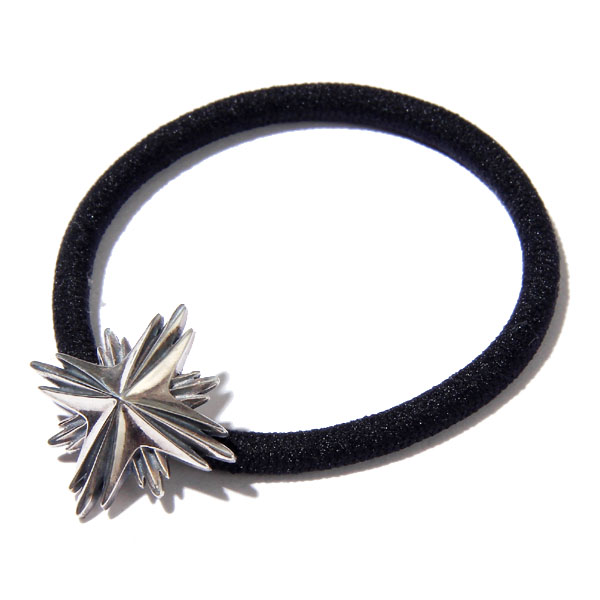 RG / HAIR RUBBER BAND LARGE -STARBURST (SIL)