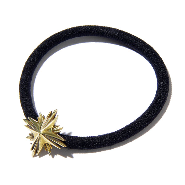 RG / HAIR RUBBER BAND SMALL -STARBURST (GOLD)