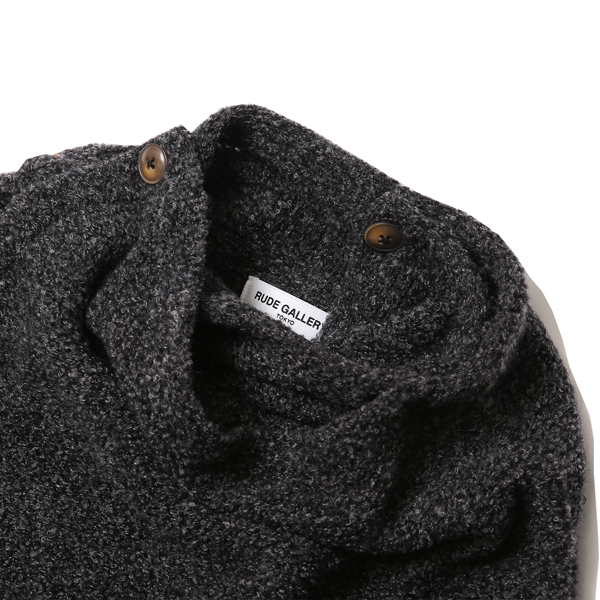 RG / HIGH NECK KNIT (GRY)