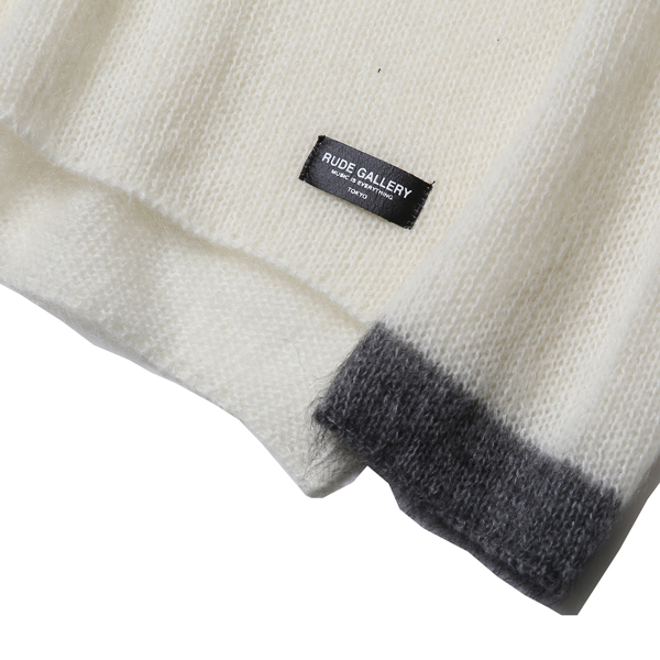 RG / MOHAIR TURTLENECK KNIT (WH)