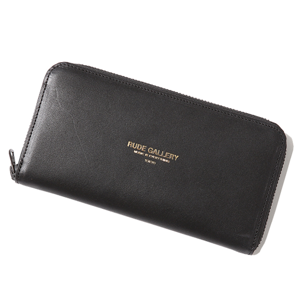 RG / LEATHER WALLET (BK/GOLD)