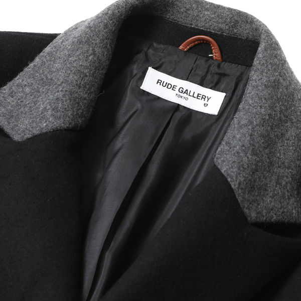 RG / DOUBLE BREASTED COAT (BK/GRY) - ウインドウを閉じる