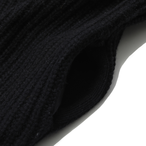 RG / HIGH NECK KNIT (BK)