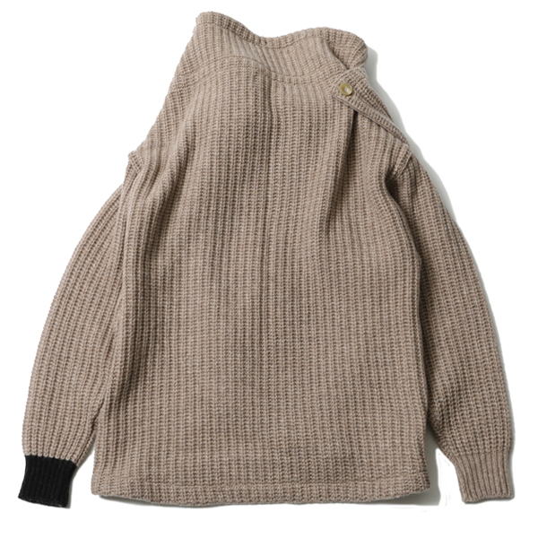 RG / HIGH NECK KNIT (BEI)