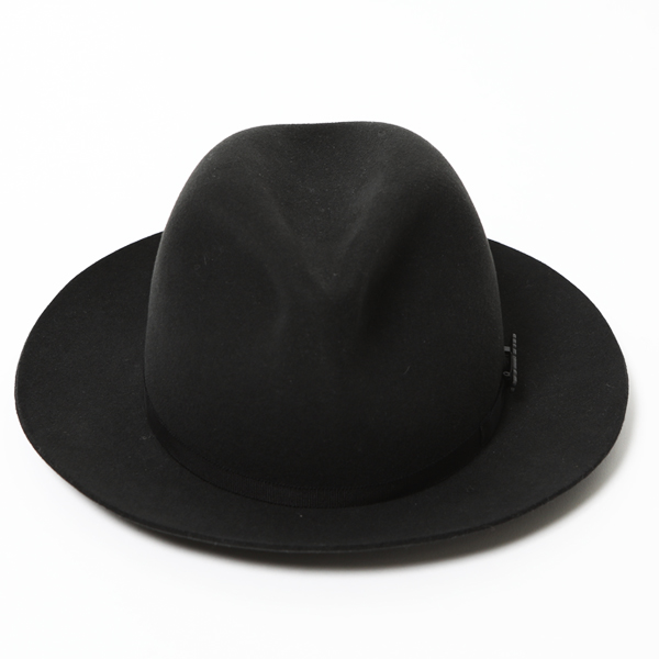 RG / WOOL SUEDE HAT - STETSON COLLABORATION (BK) - ウインドウを閉じる