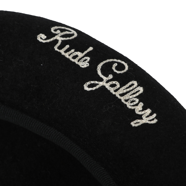 RG / LOGO EMBROIDERED WOOL BERET (BK) - ウインドウを閉じる