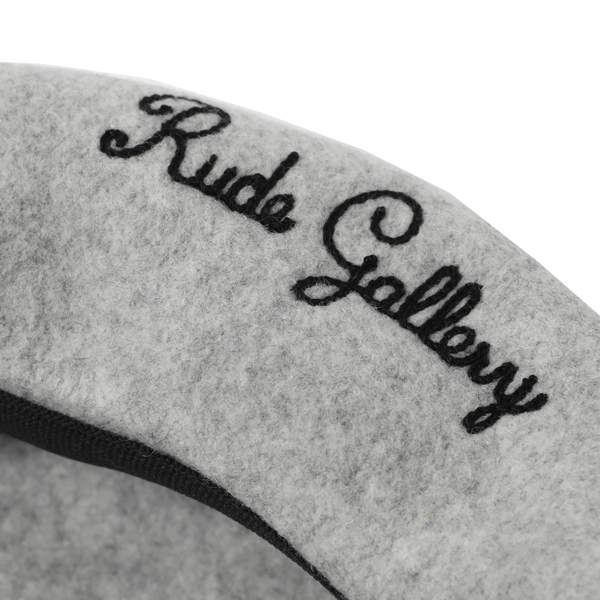 RG / LOGO EMBROIDERED WOOL BERET (L.GRY)