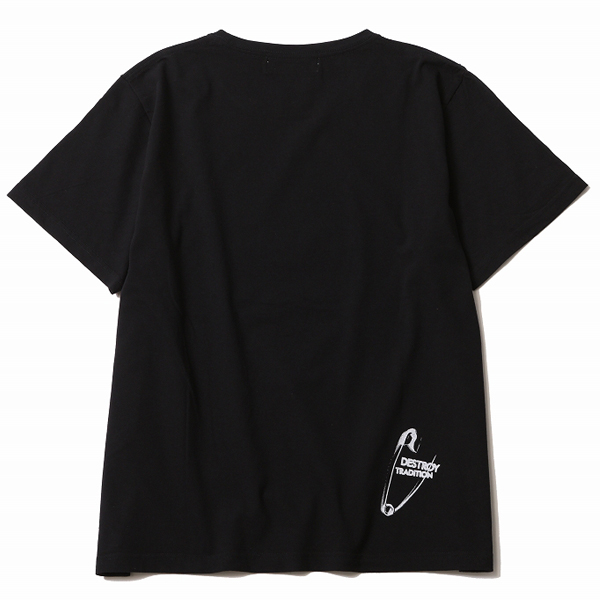 RG / DESTROY TRADITION SKULL BIG SILHOUTTE TEE (BK)