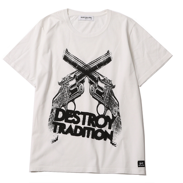 RG / DESTROY TRADITION HAND GUN BIG SILHOUTTE TEE (WH)
