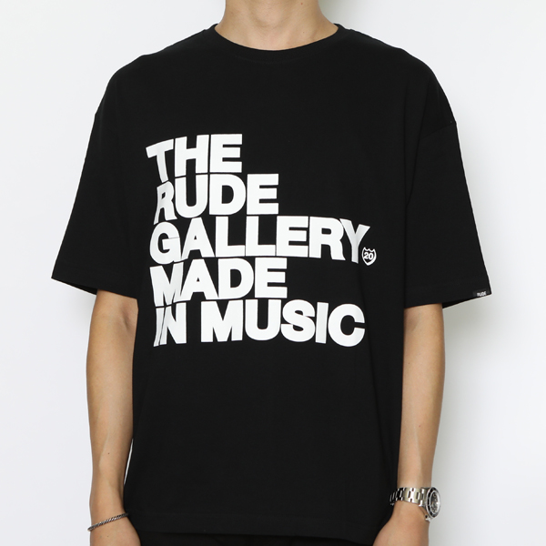 RG / MADE IN MUSIC BIG SILHOUTTE TEE (BK)