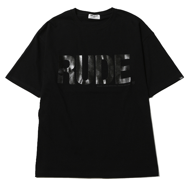 RG / RUDE BIG SILHOUETTE TEE - CLEAR (BK)