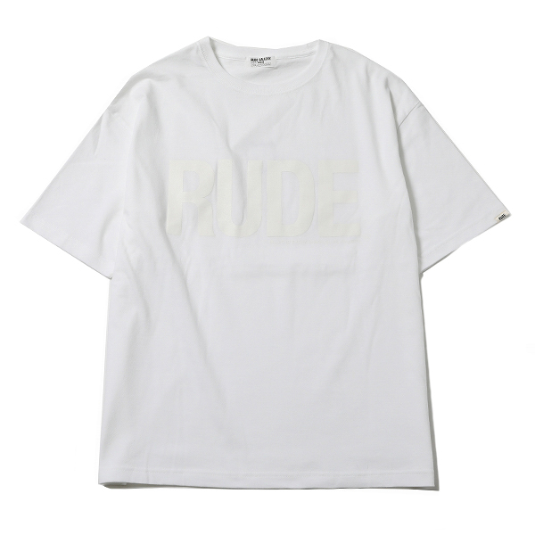 RG / RUDE BIG SILHOUETTE TEE - CLEAR (WH)