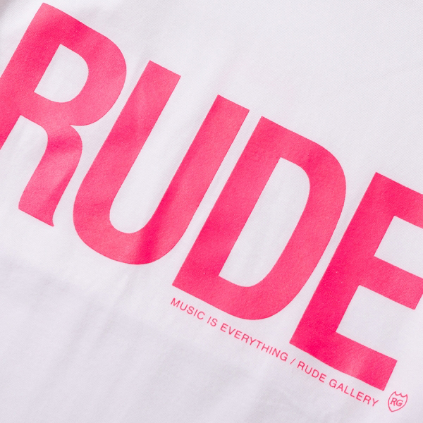 RG / RUDE BIG SILHOUETTE TEE - NEON (WH)