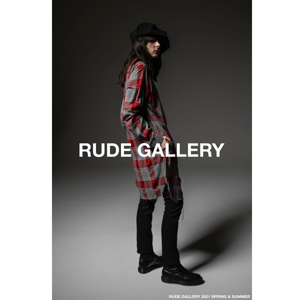 RG / INSIDEOUT CHECK LONG SHIRT (RED)
