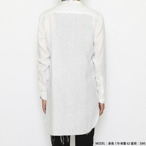 RG / INSIDEOUT LONG SHIRT (WH)