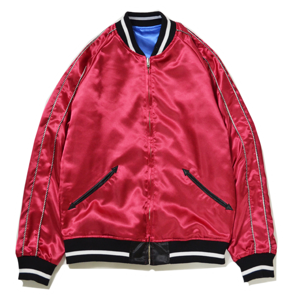 RG / RUDE x MARIA REVERSIBLE SATIN JACKET (BLUE/RED)