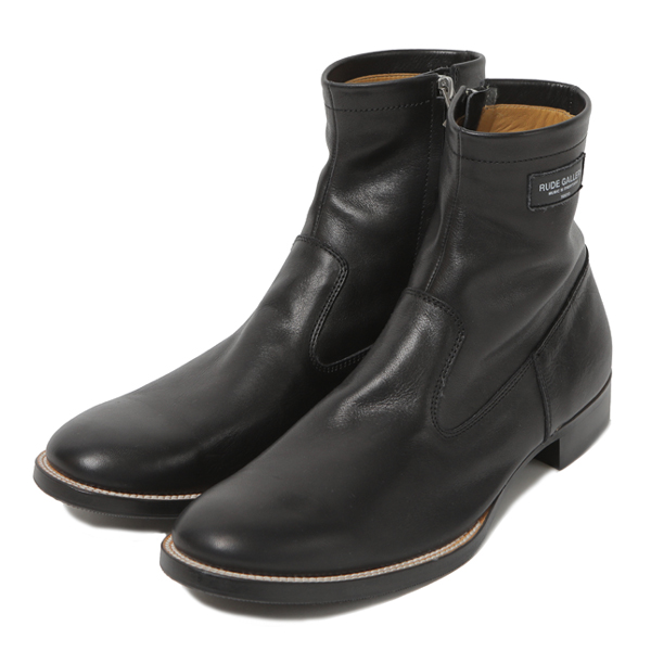 RG /SIDE ZIP BOOTS (BK LEATHER)