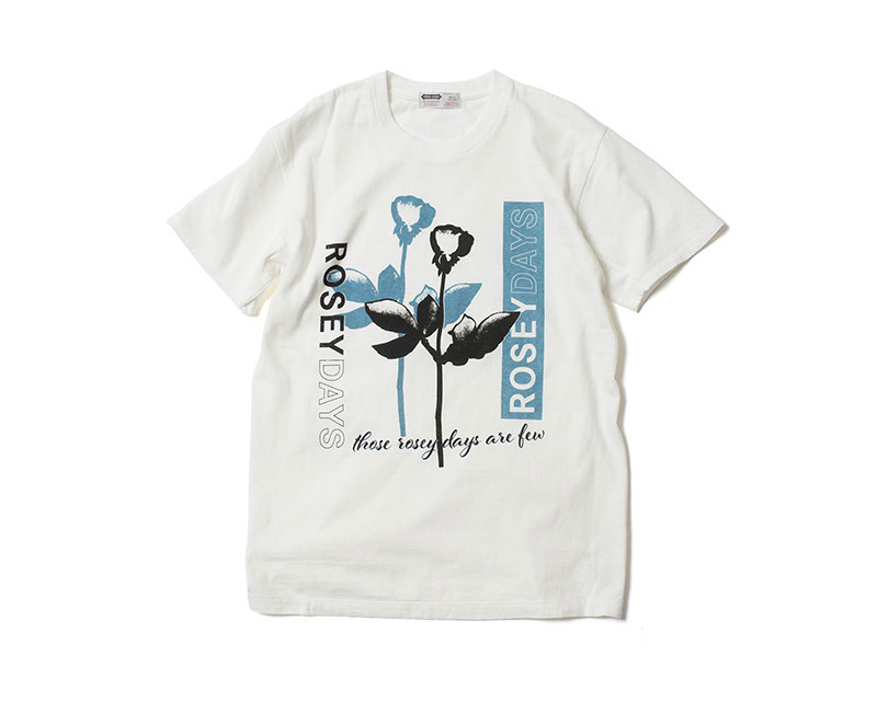BANKROBBER / GRAPHIC CREW NECK TEE -ROSEY DAYS- (OFF-WH)