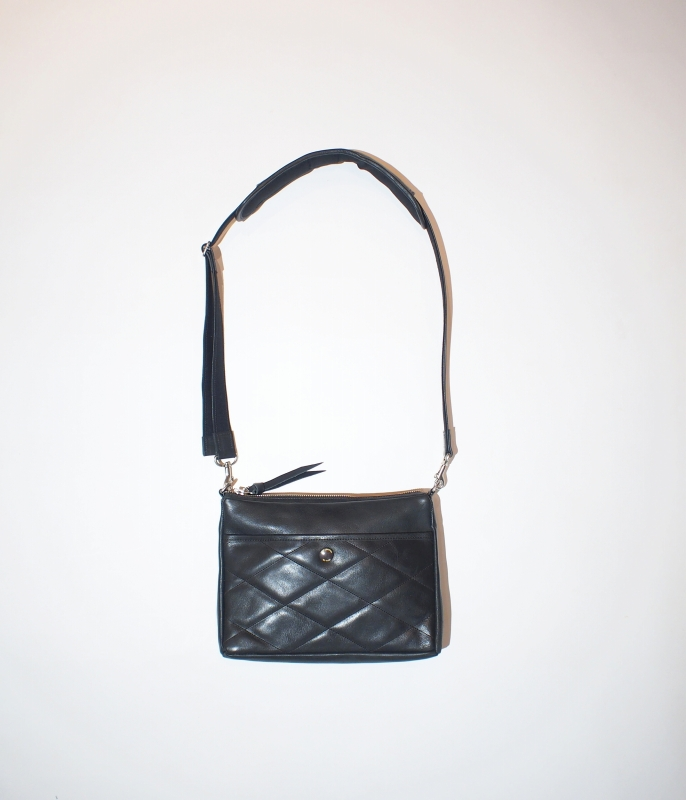 LOST CONTROL / Utility Leather Bag (BK)