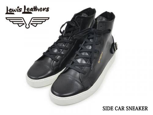 Lewis Leathers / SIDE CAR SNEAKER (BK)