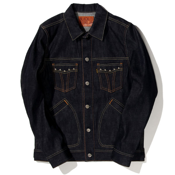 RG BLACK REBEL / Road Jack-II DENIM JKT (IND)