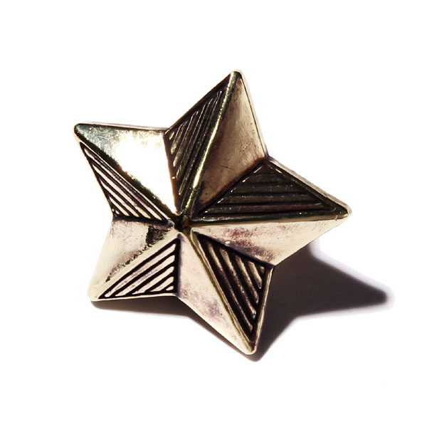 RG BLACK REBEL /STAR~PINS~ -MEDIUM- (GOLD)