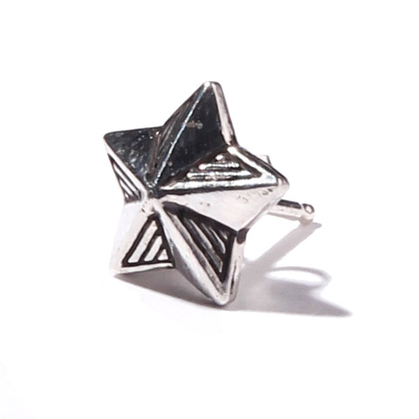 RG BLACK REBEL / STAR -PIERCE- (SILVER)