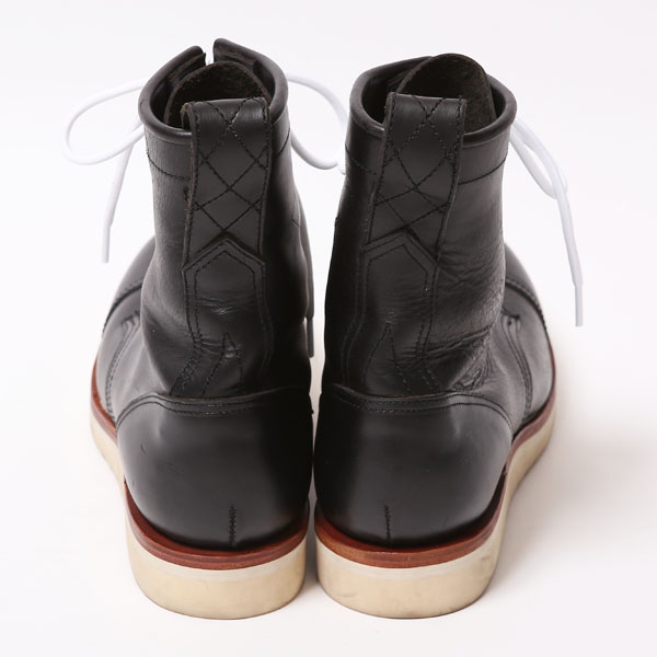 RG BLACK REBEL /REBELS LACE UP BOOTS -CAP TOE-