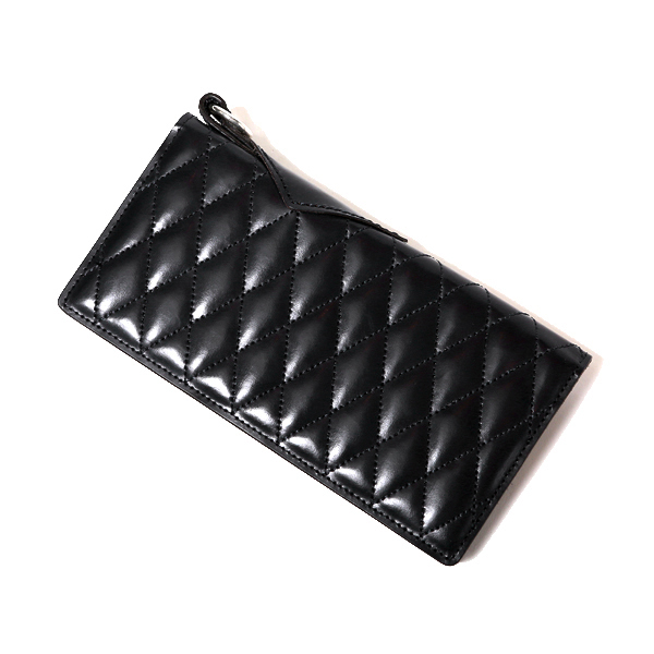 RG BLACK REBEL / OUTSIDERS DIA QUILTED LEATHER WALLET (BK)
