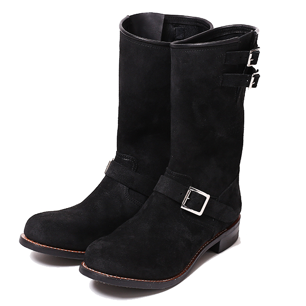 RG BLACK REBEL /REBELS SUEDE ENGINEER BOOTS (BK)