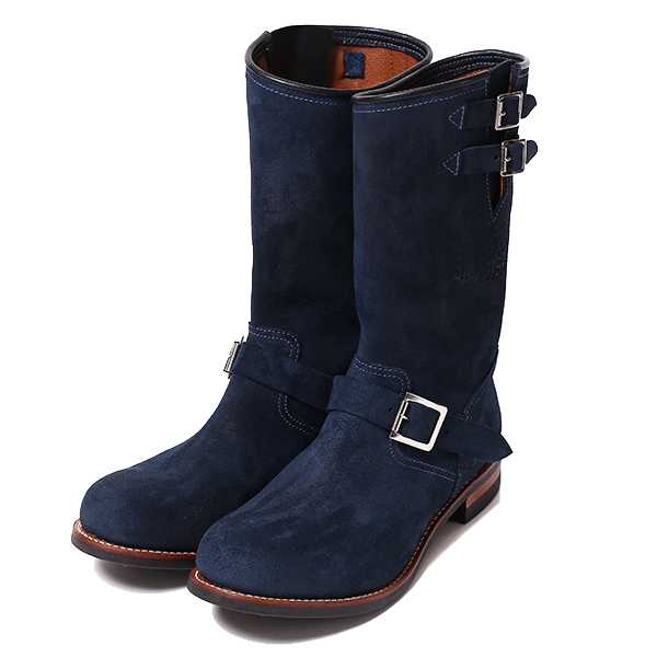 RG BLACK REBEL /REBELS SUEDE ENGINEER BOOTS (NAVY)