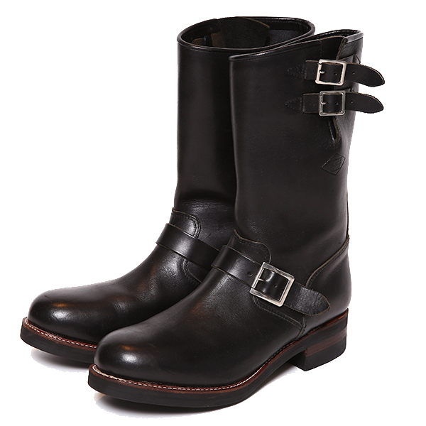 RG BLACK REBEL /REBELS LEATHER ENGINEER BOOTS