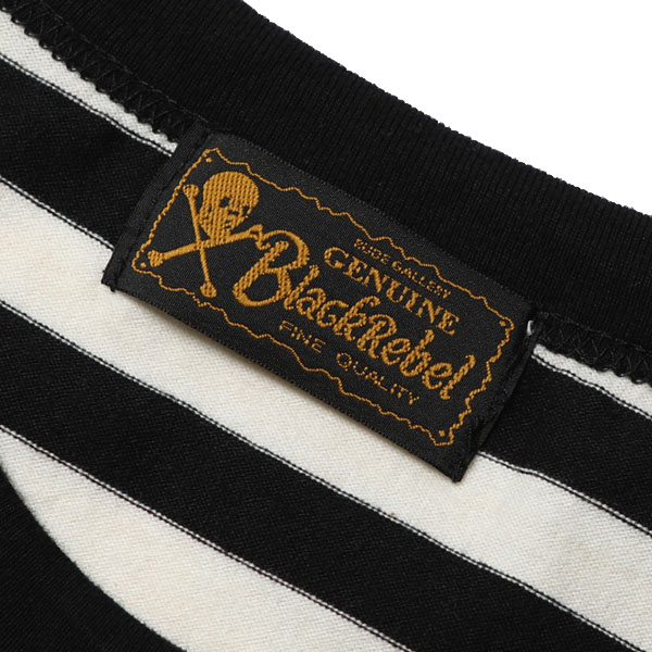 RG BLACK REBEL / DIA STITCH BORDER TEE (BK/OFF-WH)