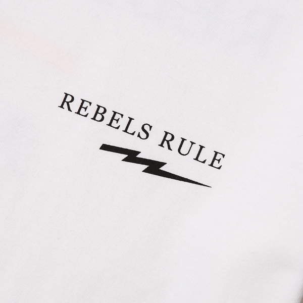 RG BLACK REBEL / REBELS RULE TEE (WH)